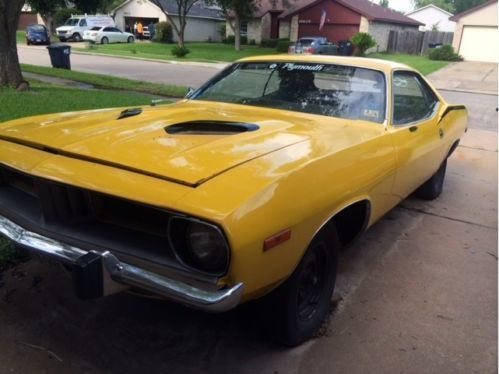 1972 Plymouth Barracuda Project